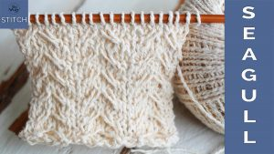 Seagull knitting stitch pattern step by step video tutorial