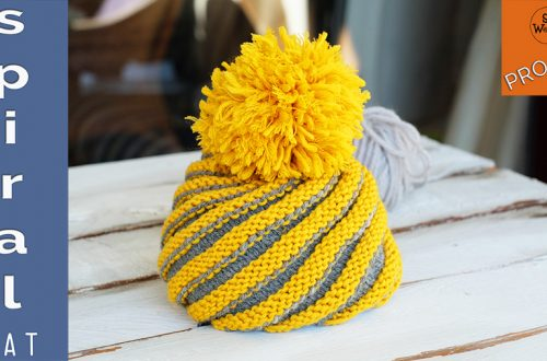 Spiral Hat free knitting pattern all sizes