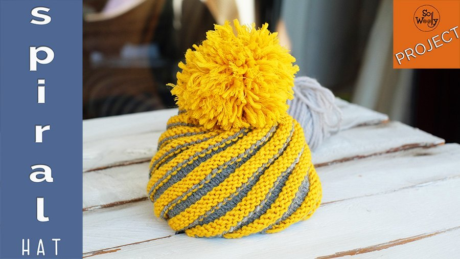 How To Knit A Spiral Hat In Two Colors All Sizes