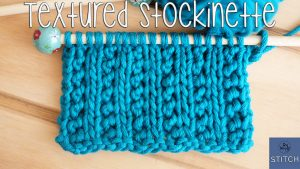Textured Stockinette knitting stitch a variant that doesn't curl