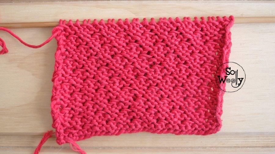 Crocodile stitch knitting pattern wrong side of the work