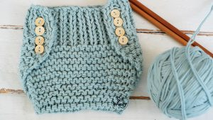 Diaper Cover knitting pattern step by step two sizes