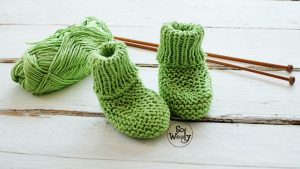 How to knit Newborn Baby Booties step by step
