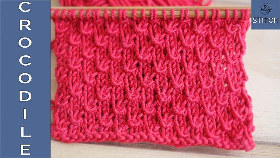 How to knit the Crocodile stitch