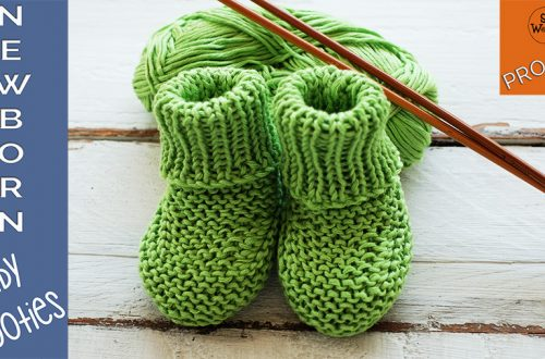 Newborn Baby Booties knitting pattern for beginners