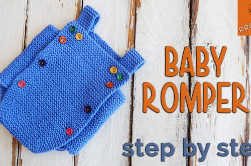 Baby Romper knitting pattern for beginners
