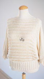 Batwing Sweater free knitting pattern
