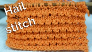 Hail stitch knitting pattern easy textured lace