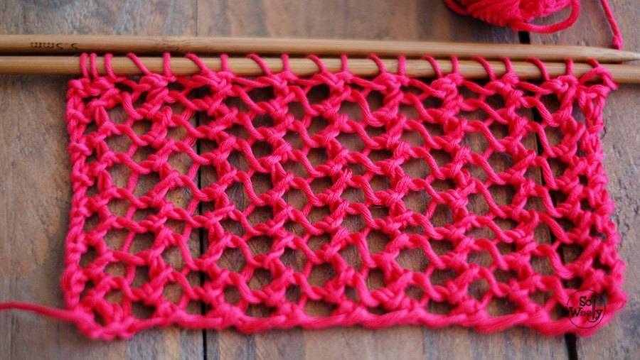 Easy lace stitch pattern