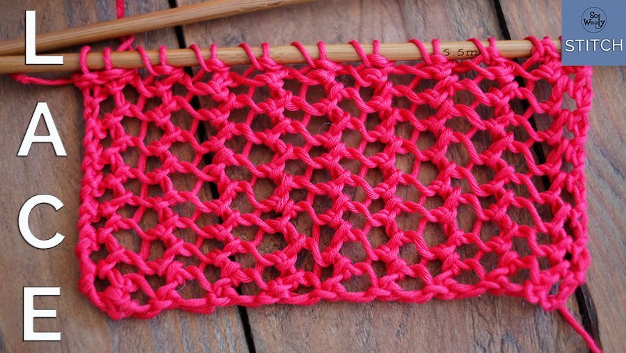 How to knit lace in one row two easy steps