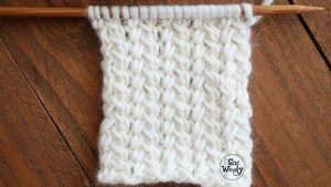 How to knit the Spine stitch