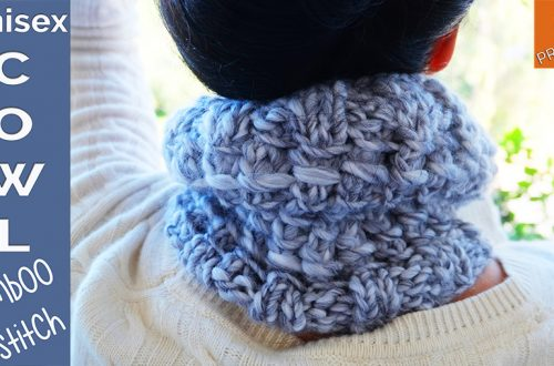 How to knit unisex cowl for beginners
