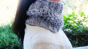 Neck warmer knitting pattern Bamboo stitch