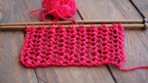 One row easy lace stitch
