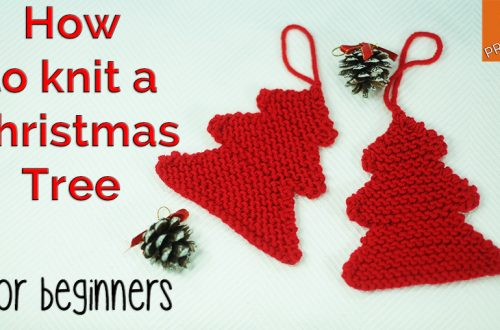 How to knit a Christmas Tree for beginners