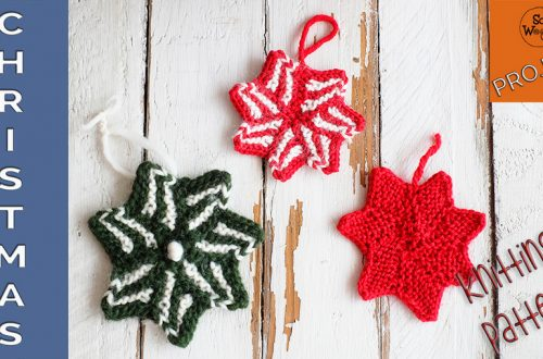 How to knit a Christmas star step by step
