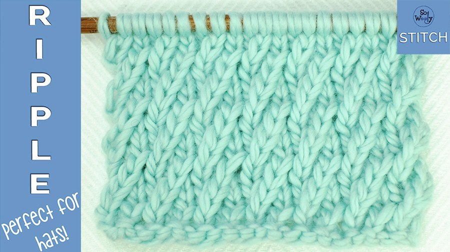 How to knit the Ripple stitch pattern perfect for hats