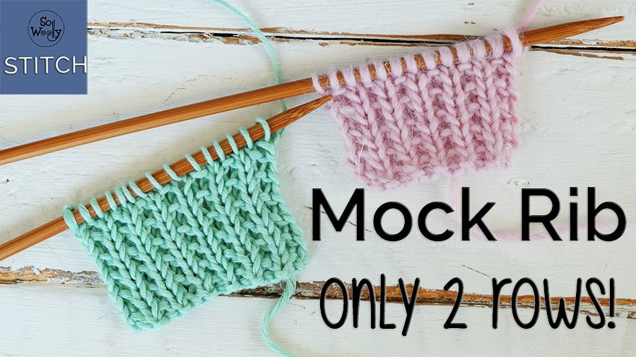 Mock Rib knitting stitch pattern step by step