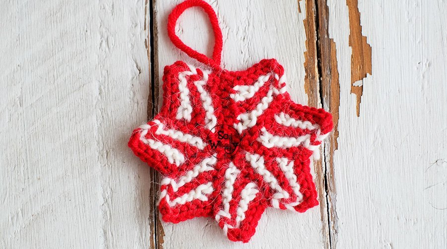 Seven-point star free knitting pattern and video tutorial, step by step. So Woolly.
