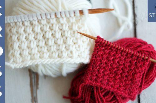 Cross stitch knitting pattern for beginners