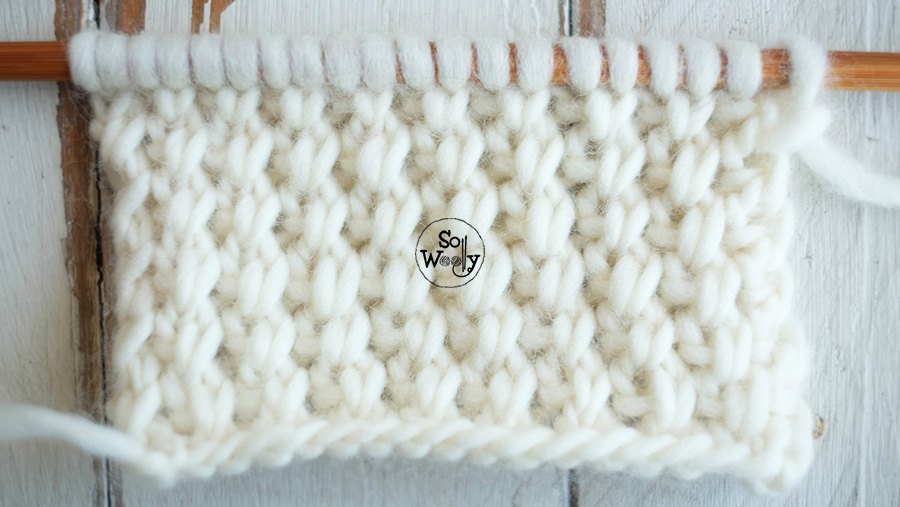 How to knit an easy cross stitch step by step. So Woolly: Knitting patterns for beginners