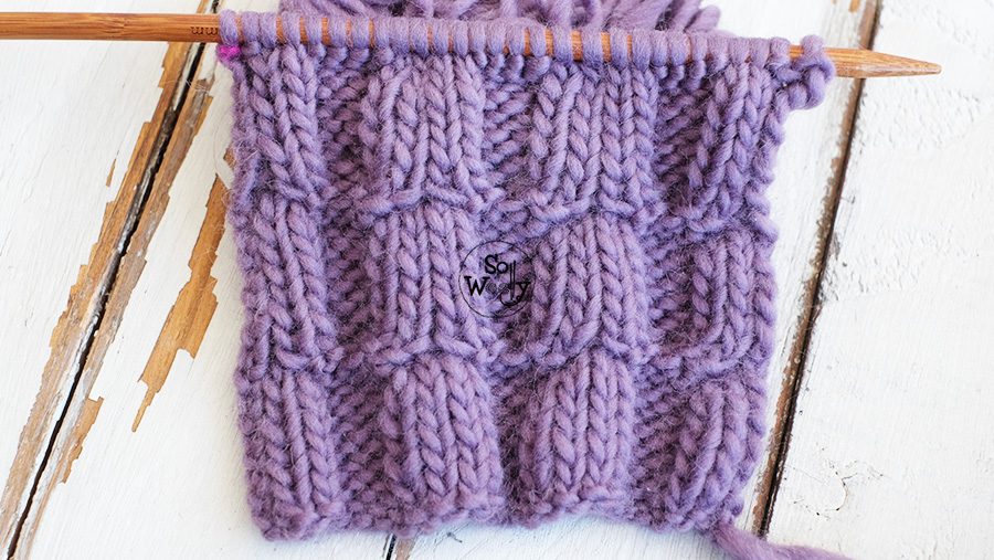 Fuchsia flower stitch: The perfect introduction to cable knitting. So Woolly.