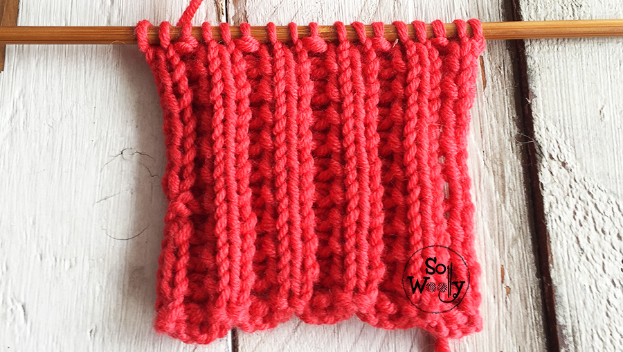 How to knit a reversible lace ribbing stitch . So Woolly.