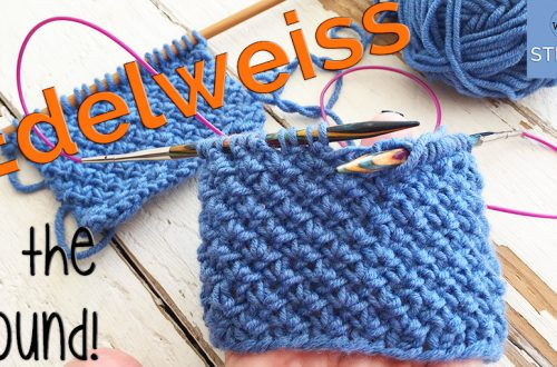 How to knit the Edelweiss stitch in the round
