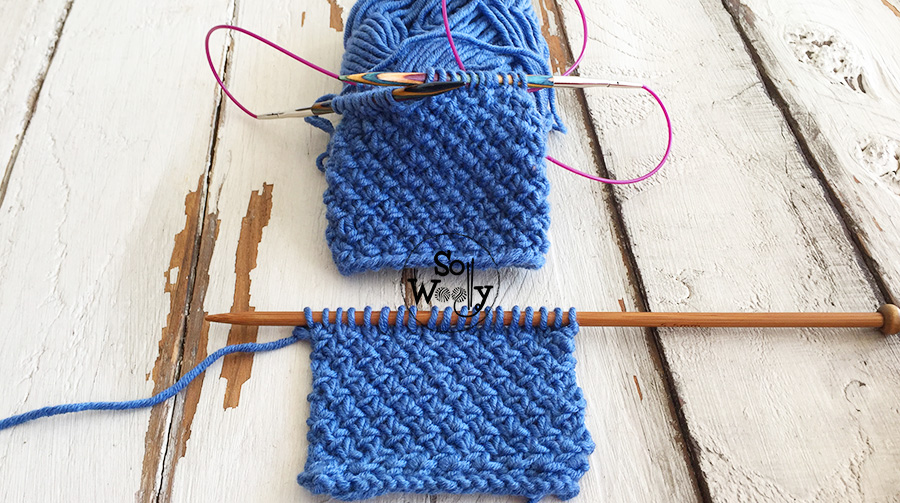 How to knit the Edelweiss stitch in the round (free pattern and video tutorial). So Woolly.