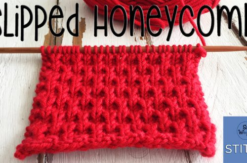 Slipped Honeycomb stitch knitting pattern