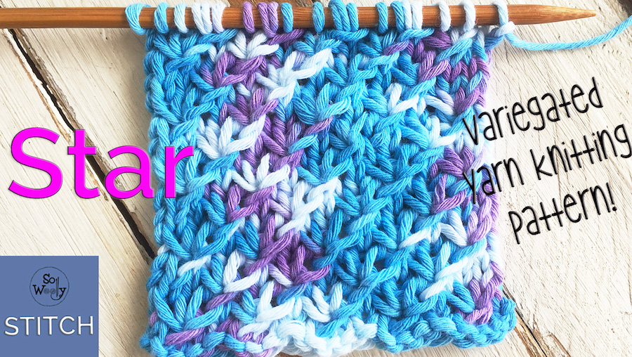 Knitting patterns for variegated yarns step by step