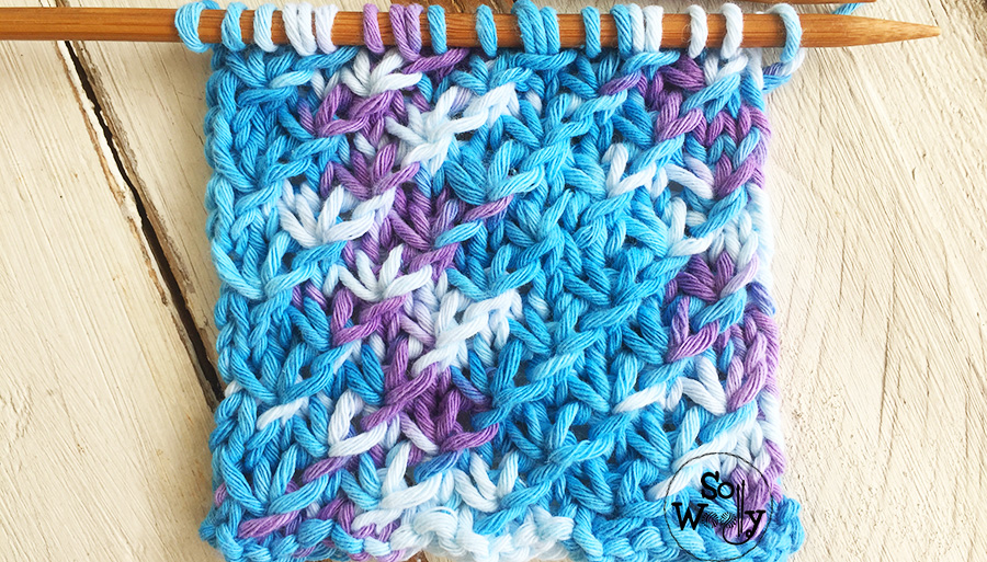 Knitting stitches for variegated yarns , explained step by step. So Woolly.