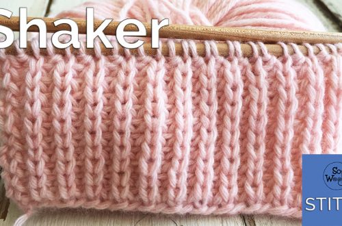 Shaker stitch knitting pattern and video tutorial