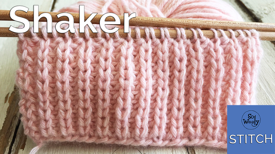 Shaker stitch knitting pattern and video tutorial
