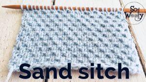 Sand stitch knitting pattern