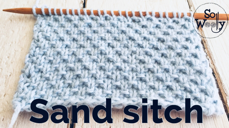 Sand stitch knitting pattern