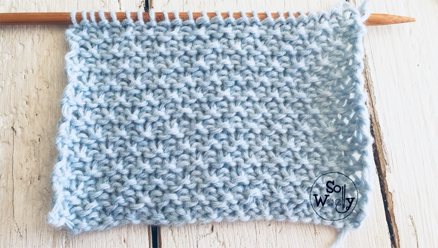 Sand stitch pattern. Ideal for knitting baby blankets. So Woolly.