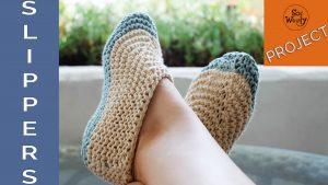 Easy slippers knitting pattern