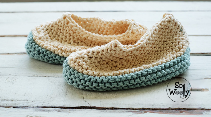 How to knit easy slippers, step by step. So Woolly.