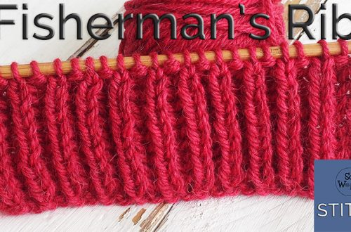 How to knit and bind off the Fishermans Rib stitch