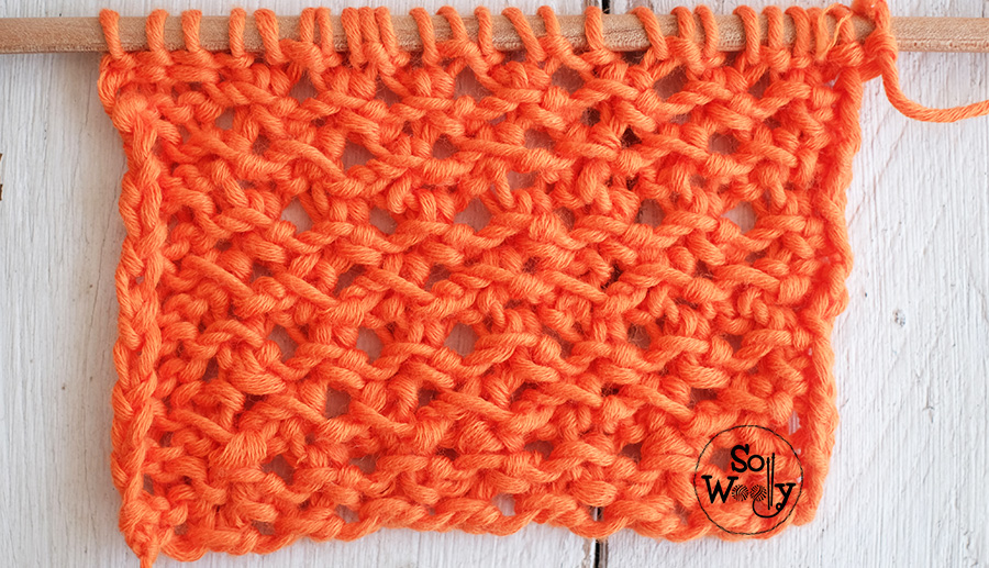 Lace knitting stitches free patterns and video tutorials. So Woolly.