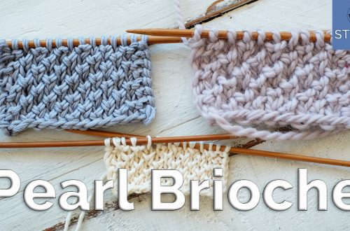 Pearl Brioche knitting stitch pattern