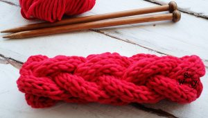 Braided headband knitting pattern video tutorial