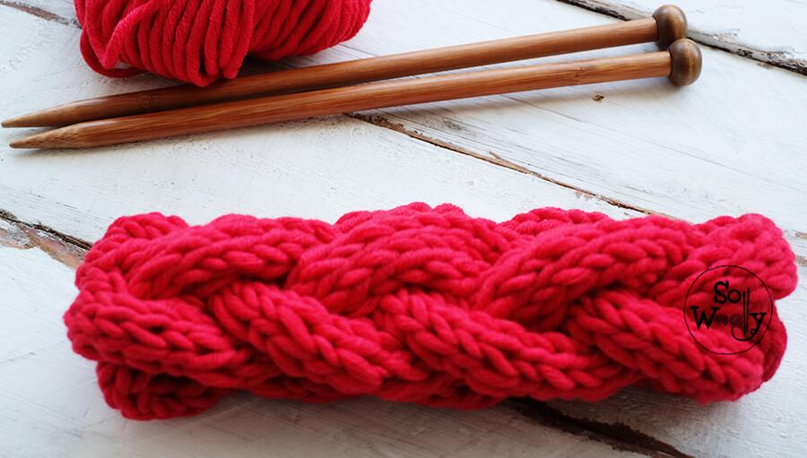 Braided headband knitting pattern video tutorial