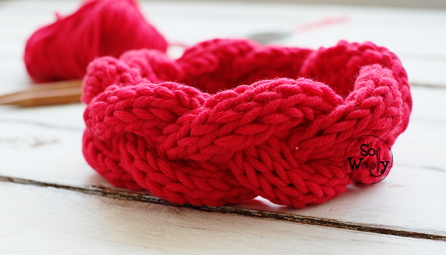 Cable Headband knitting pattern for beginners