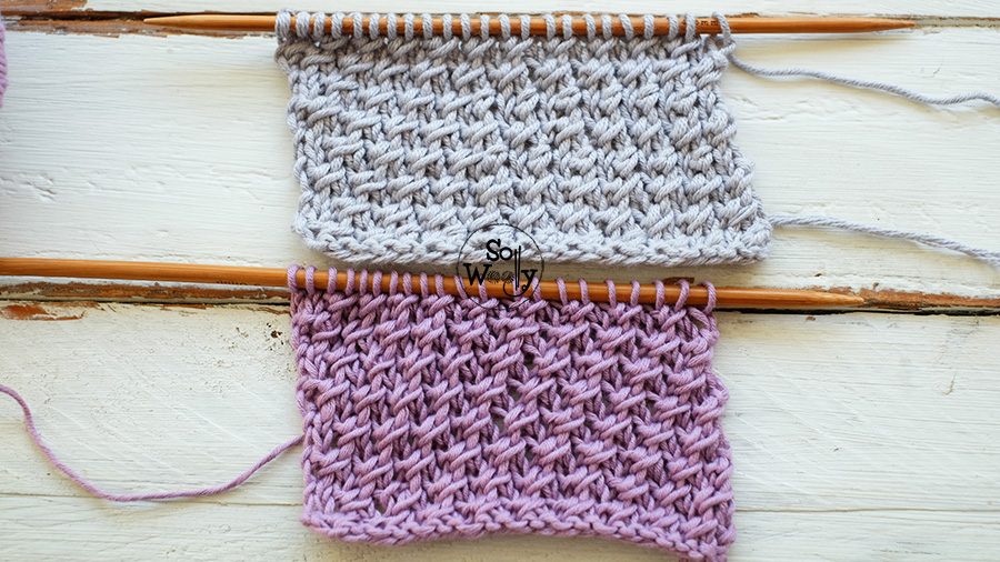 Cross knitting stitch pattern and video tutorial, step by step. So Woolly.