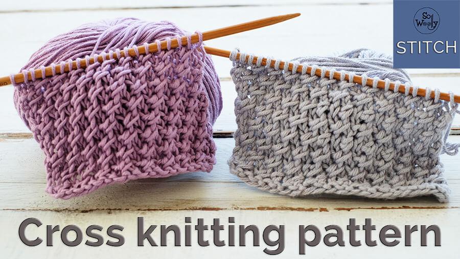 Cross stitch knitting pattern