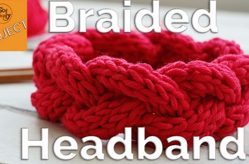How to knit a braided headband for beginners step by step