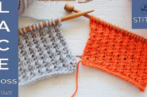 Lace Cross knitting stitch