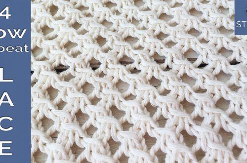 Four-row repeat lace stitch